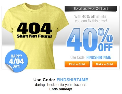 Shop now and save 40% on T Shirts!